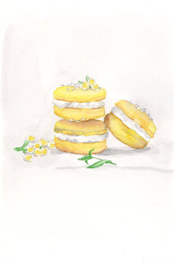 Laduree Three Lemon Yellow Macarons