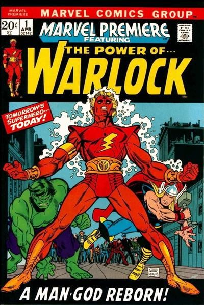 """""""Marvel Premiere"""" was the company's answer to DC's """"Showcase."""" For two issues in 1972, he who was Him renamed himself Adam Warlock and set a new destiny on Counter-Earth, created by the High Revolutionary. Series creator (not necessarily character creator) Roy Thomas knows too much about Earth-Too in Marvel, having created the Squadron Supreme's parallel universe. Has artist Gil Kane (or art director John Romita) been spying on DC rumors regarding the Big Red Cheese?"""
