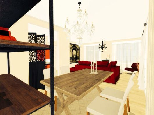3d floor plans - konstadina nastou decorator-Greece-http://kinteriorsblog.wordpress.com/ #floorplans #roomsketcher #interiors #black #white #dining_room #decor #home