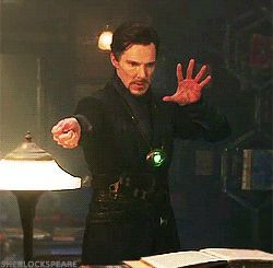 [GIF] DOCTOR STRANGE (2016) ~ Benedict Cumberbatch behind the scenes during the making of the movie.