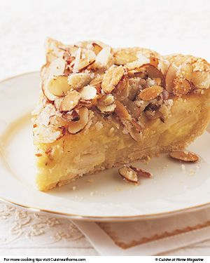 French Apple-Custard Pie.  Apple pie is truly an American icon. This French-style variation, with sautéed apples, creamy vanilla custard, and a crunchy almond streusel, is the pie.