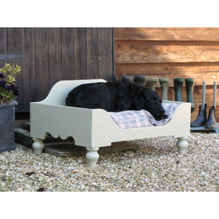 Luxury Raised Wooden Dog Bed Medium | Wooden Dog Beds