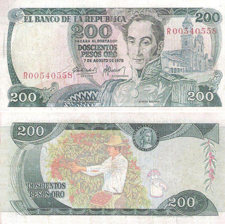Billete - Colombia (1971-1980) - 200 pesos