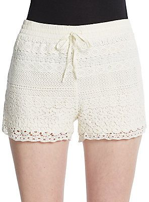 $52, Crochet Shorts. Sold by Off 5th. Click for more info: https://lookastic.com/women/shop_items/210369/redirect
