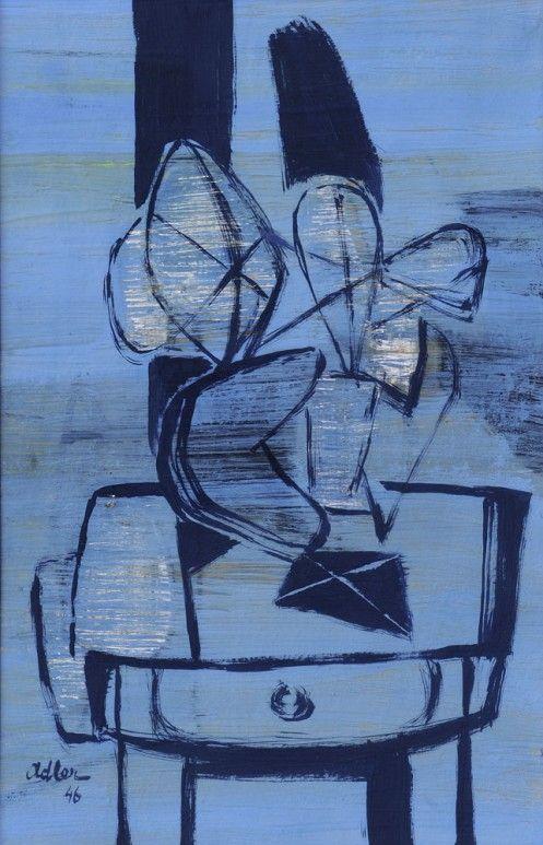Jankel Adler - Blue Interior