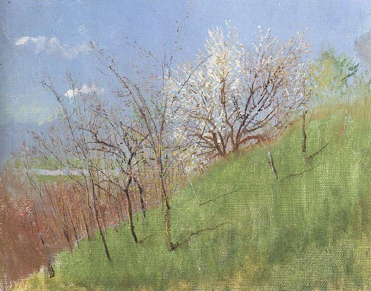 László Mednyánszky Hildside at Springtime (Little Landscape)1903-04 - László Mednyánszky - Wikimedia Commons