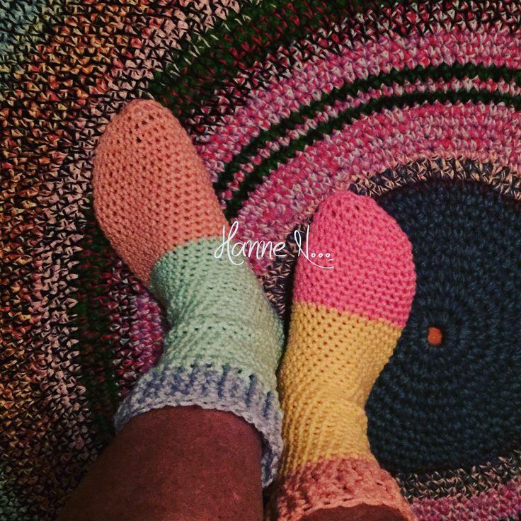Heklet sokker~~~~