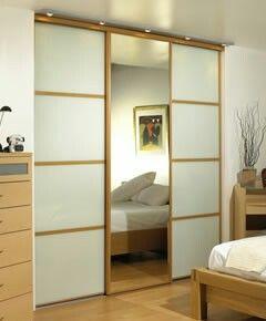 Natural & wood built in sliding wardrobes