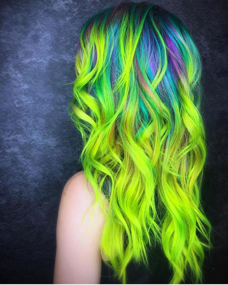 @fabhairbyjosh is the artist... Pulp Riot is the paint.     #pulpriothair #hair #haircolor #neon #hairstyle #beauty
