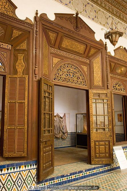 Decorated Wooden Door With Carvings Islamic Architecture