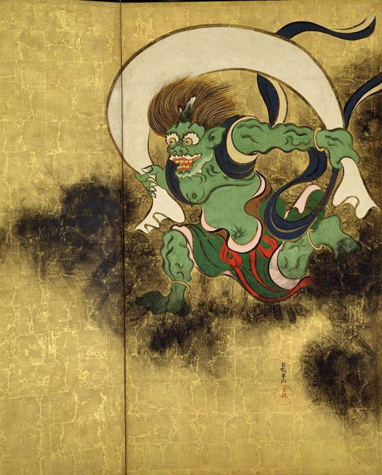 Ogata Korin. Wind God. Edo Period. 1700s.