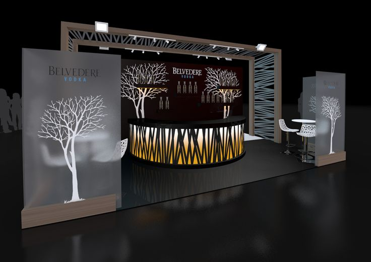 Exhibition Stand Design: Stand Design created for Belvedere Vodka for their upcoming exhibition at Imbibe 2013