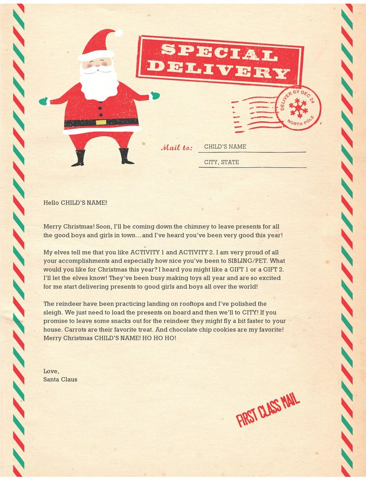letter from santa template 25 unique letter from santa template ideas on 22858