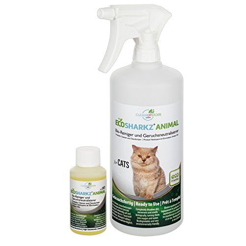 From 15.97:Best Cat Urine Remover Spray - Cleans Litter Tray: Ecosharkz Animal For Cats Probiotic Cleaner And Deodorizer For Cats (50ml Concentrate Yields 1-2 Litres Ready To Use)