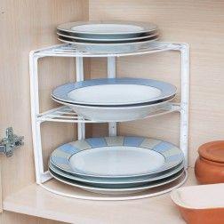 Organizador Rack de Pratos para Armário de Cozinha