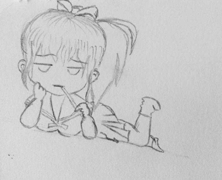 Bored Chibi Outline   Sketches, Chibi, Art