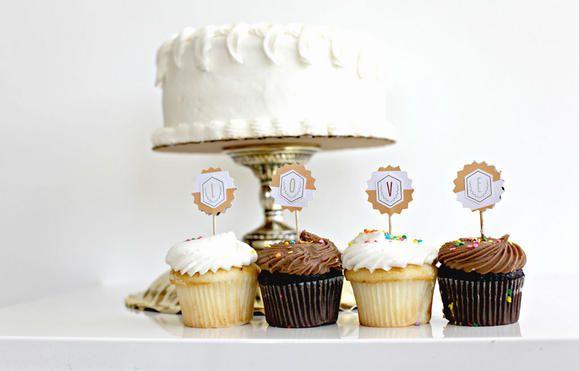 Cupcake toppers from Teresa Collins www2.fiskars.com