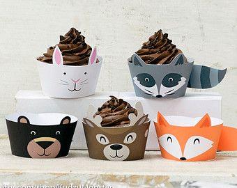 renard imprimable d'animaux de la forêt cupcake par KudzuMonster