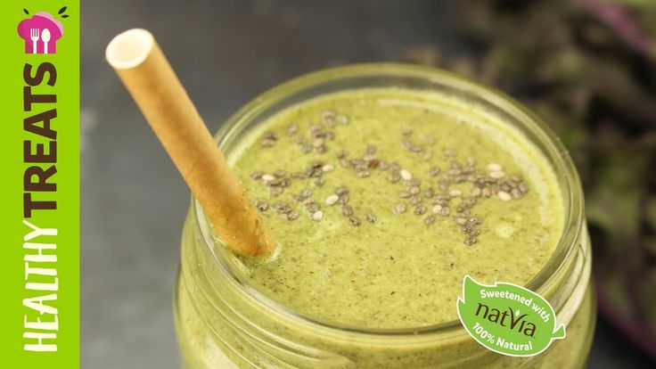 #Kale, #Chia & #Coconut #Superfood #Green #Smoothie - #Natvia's vHealthy Treats