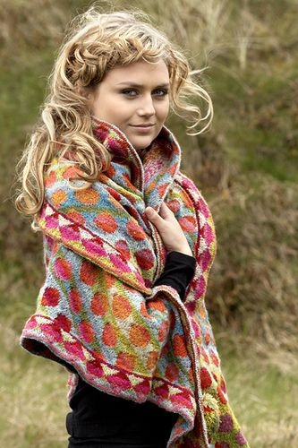 oh lawsy! i am in love with christel seyfarth's bon bon shawl! the dots! the colors! the warmth! #knit