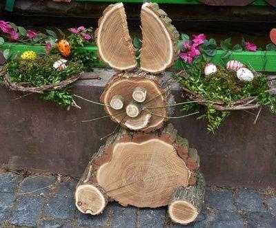 Noch irgendwo einen Baumstamm oder eine -scheibe herumliegen? 10 supertolle DIY-Ideen aus Holz! - DIY Bastelideen
