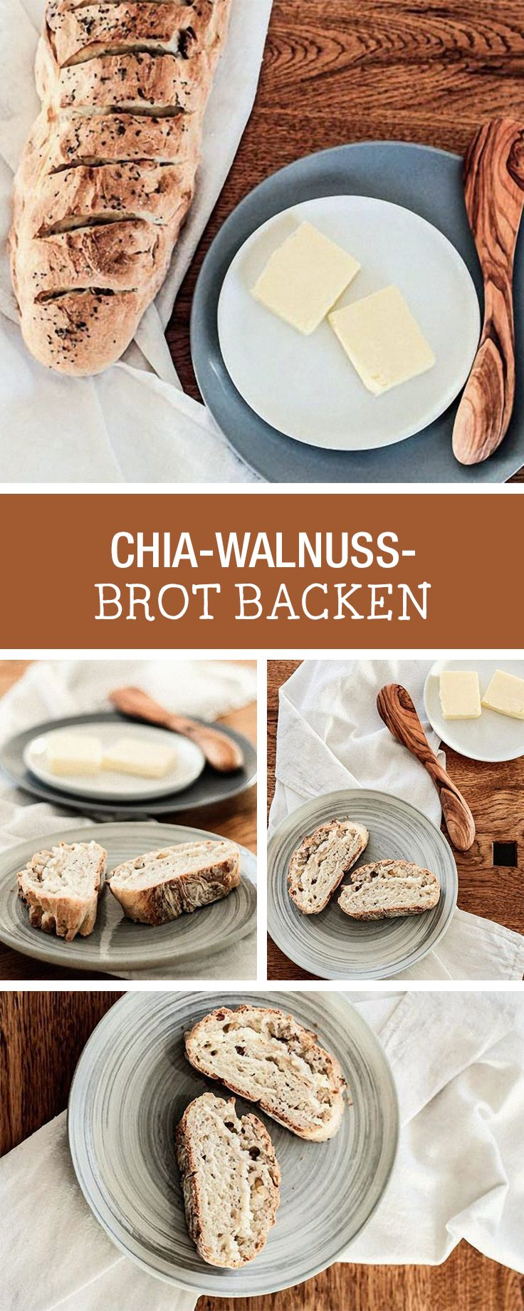 Gesundes Brot fürs Frühstück: Rezept für ein Chia-Walnuss-Brot / bake your own bread: recipe for ciabatta with walnuts and chia seeds via DaWanda.com