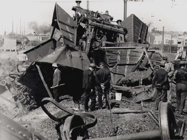 Train crash at Eastwood railway station, 13 September 1940 [photograph]