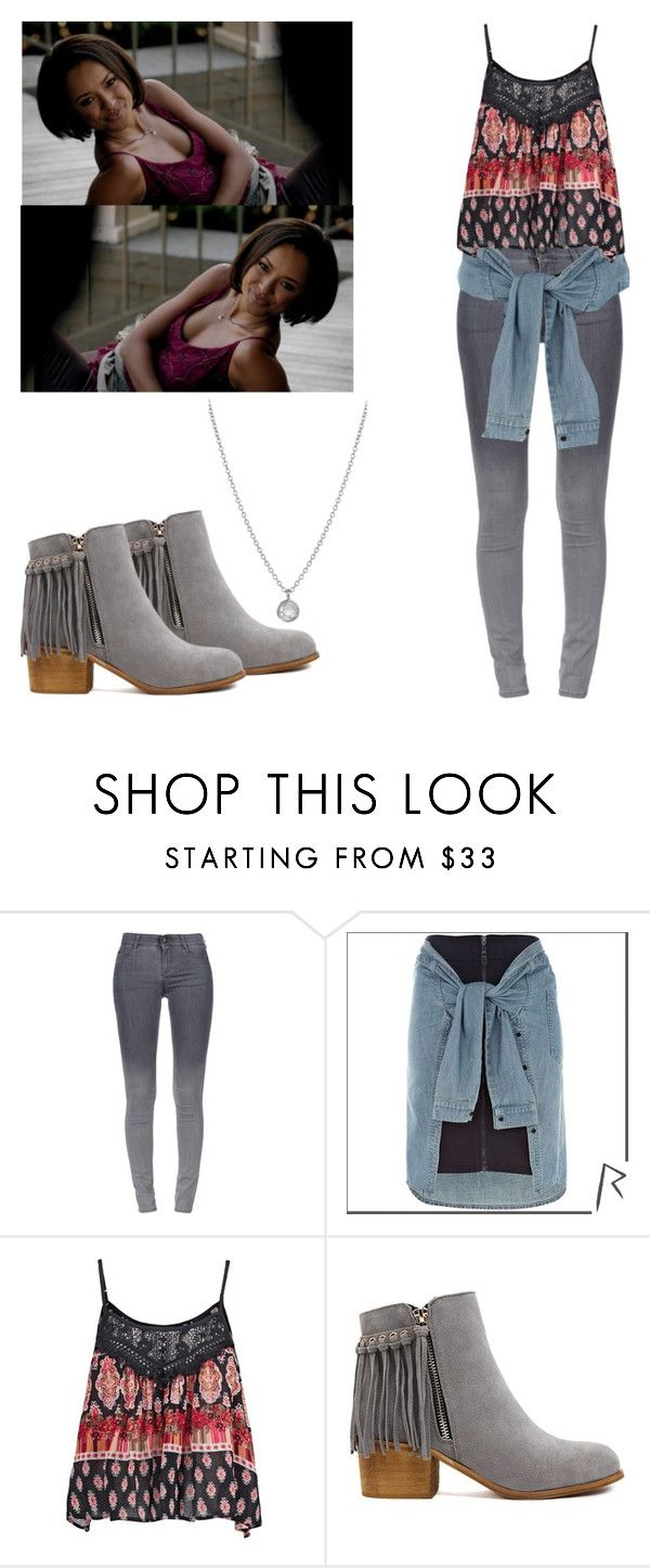 """""""Bonnie Bennett - tvd / the vampire diaries"""" by shadyannon ❤ liked on Polyvore featuring STELLA McCARTNEY, River Island, Band of Gypsies and Finn"""