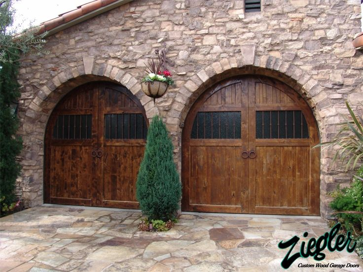 Tuscan Wood Garage Doors Dream Home Pinterest