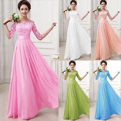 Long Chiffon Evening Formal Wedding Party Bridesmaid Cocktail Dresses PLUS SIZE