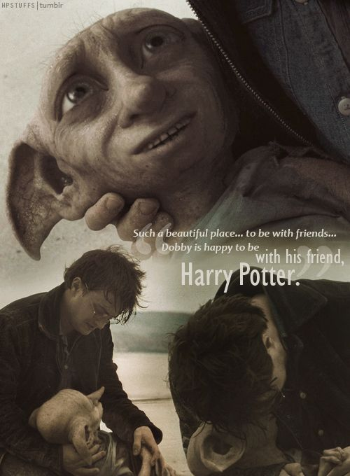 I didn't know how they were gonna b able to portray this correctly and with as much emotion as was needed cuz u never really got to know Dobby in the movies but they did me proud....i bawled like a baby just like i did in the book!