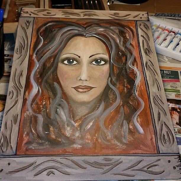 #akrylmålning på G. 30x40 cm. #pannå #oklar