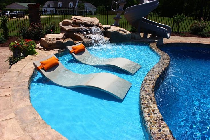 25 best ideas about fiberglass pools on pinterest for Pool design with tanning ledge
