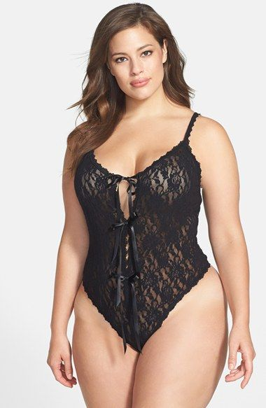 Free shipping and returns on Hanky Panky Open Gusset Teddy (Plus Size) at Nordstrom.com. Stretchy lace styles a super-seductive teddy with two front keyhole cutouts, a thong back and a daring open gusset.
