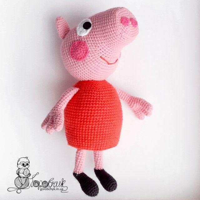 """Безопасная игрушка свинка Пеппа из качественных материалов, безопасных даже для самых маленьких детей. Купить в магазине """"Горобчик"""""""