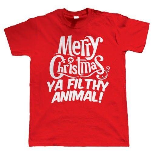 Merry Christmas Ya Filthy Animal Funny T Shirt Gift Secret Santa Stocking Filler T-Shirt Summer Novelty Cartoon T Shirt #Affiliate