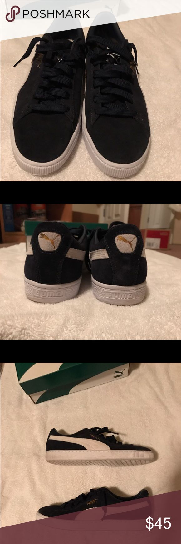 Men's PUMA Suede Classic US SZ 11.5 Peacoat/White. Original box. Worn lightly for about a month: 9/10. US 11.5. UK 10.5. Puma Shoes Sneakers