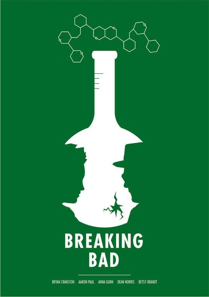 Breaking Bad Art Print nice clean minimal poster with clean style to it which makes the program stand out and give a clean effect.
