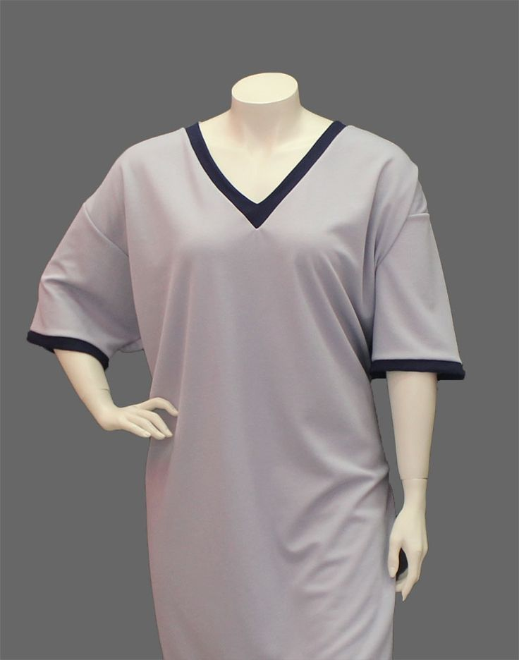 Veronica V Neck Long Nightie - Lisa's Lacies : Sleepwear