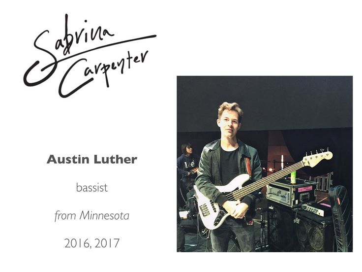Meet the Sabrina Carpenter Band: Austin Luther (contemporary jazz composer, electric/acoustic bass player)