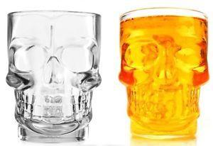 3D-Calavera-De-Cristal-Nudillo-Forma-Soporte-Jarra-Cerveza-Vaso-Pinta-con-asa