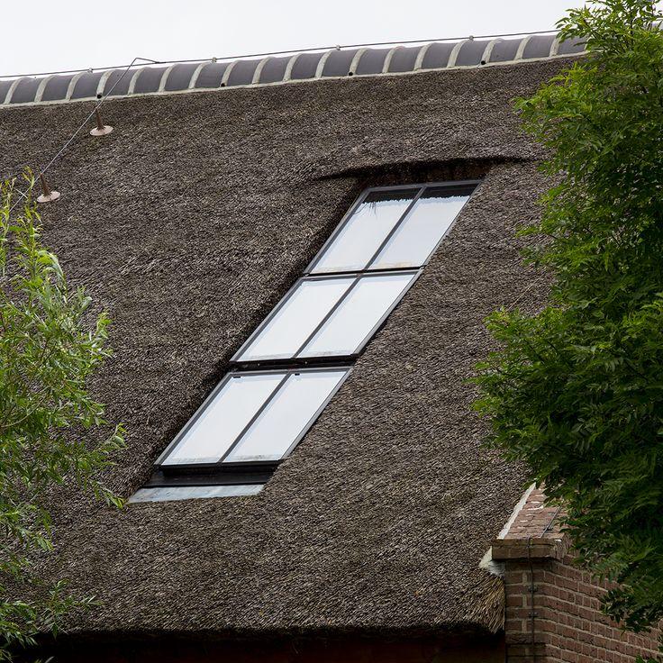 Cast PMR dakraam valt volledig in de dakbedekking