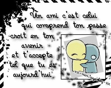 Un ami ... Aline ♥ beautiful words about friendship in French. ( en Francais)