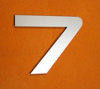 Modern house number aluminum
