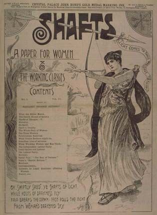 Shafts was a particularly radical magazine with articles on birth control by Marie Stopes, and reports that ranged from sporting achievements to news of the latest activities of the Independent Labour Party.