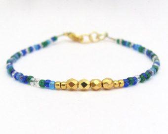 Bracciale amicizia arcobaleno Multi colore Seed Bead