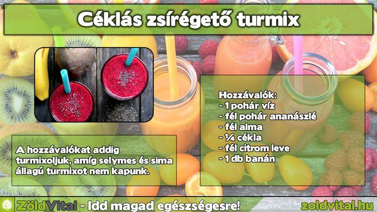 Zsírégető céklás turmix recept