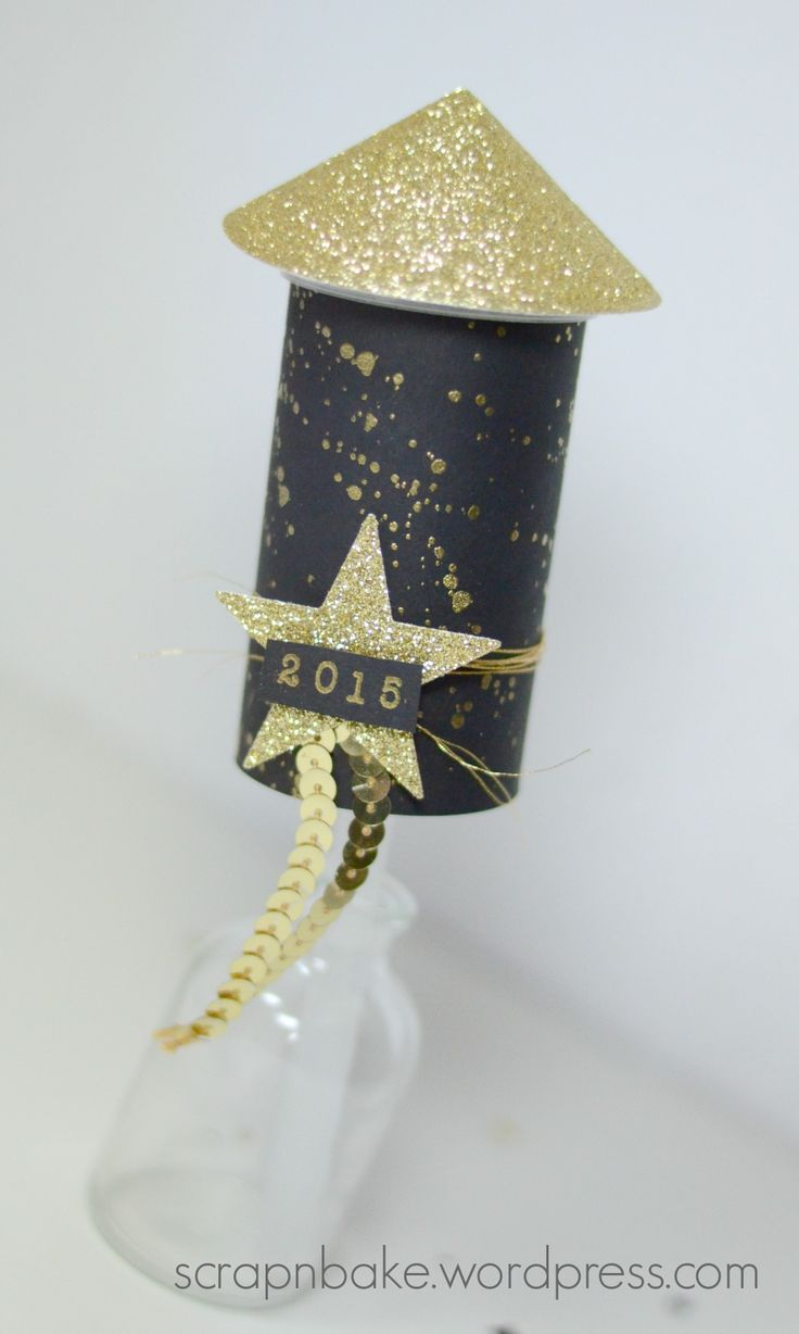 Stampin' UP! - Silvester - New Year - Neujahr - Konfetti - Rakete - Black and Gold