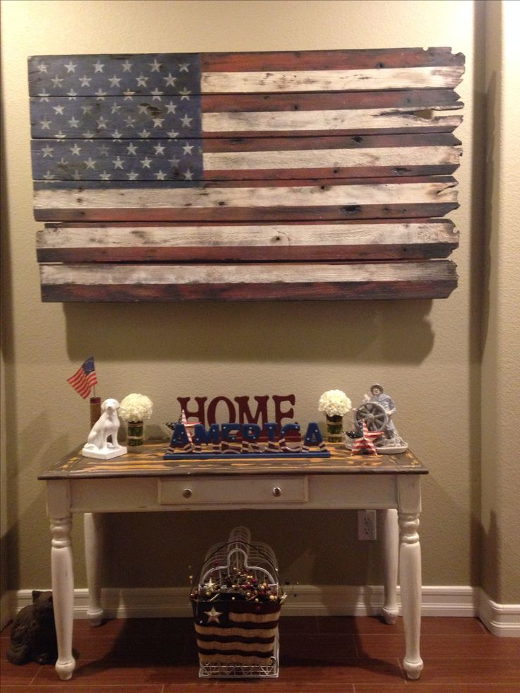 American Flag wood art, Happy customer