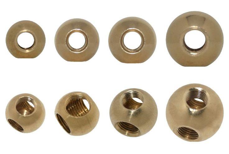 Messingkugel T-Gewindekugel M10x1 Messing roh Ø 18-30 T-Gewinde 1 oder 5 Stück